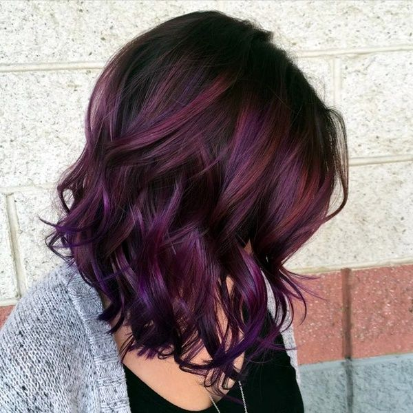 Image Result For Burgundy And Dark Brown Hair With Silver Highlights