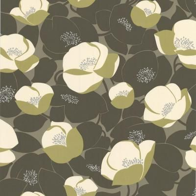 Best Graham Brown 56 Sq Ft Field Poppies Green Wallpaper 400 x 300