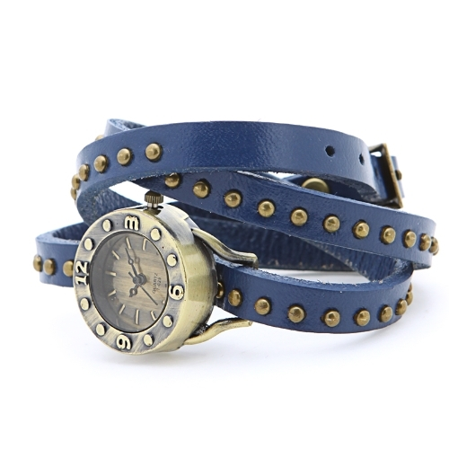 4.34$  Buy here  - Womens Vintage Rivets Bracelet Wrist Watch