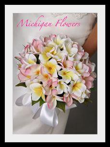 Silk Frangipani Posy Florist Michigan Flowers Australia Pretty