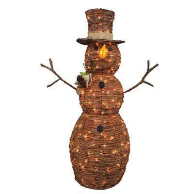 holiday living 4 ft grapevine snowman lighted outdoor christmas decoration