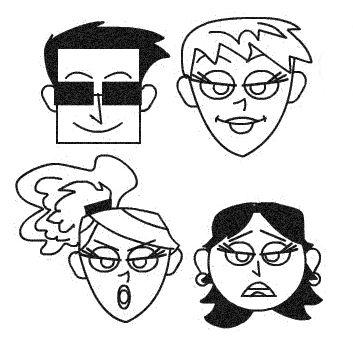 drawing cartoon faces