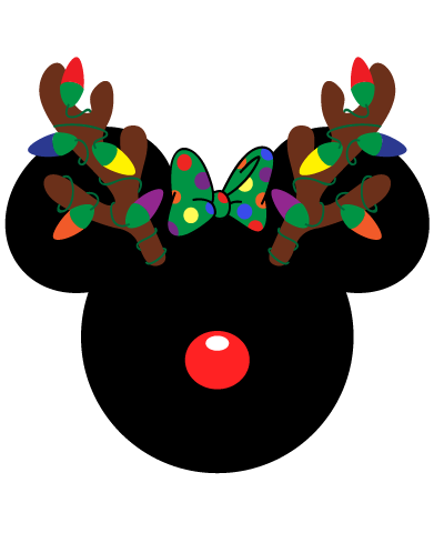 Mickey And Minnie Mouse Christmas Antlers Mickey Mouse Christmas