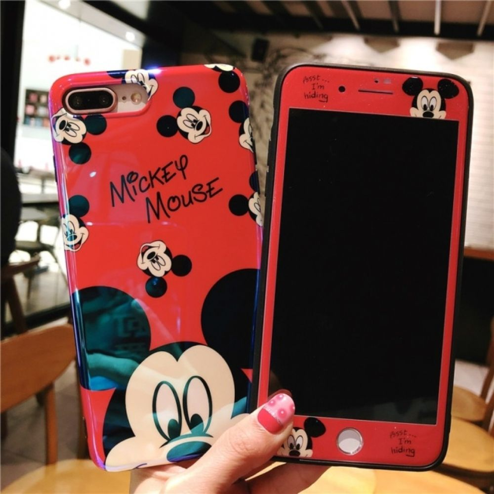 Blue Light Mickey iPhone Case Price 17.08 & FREE