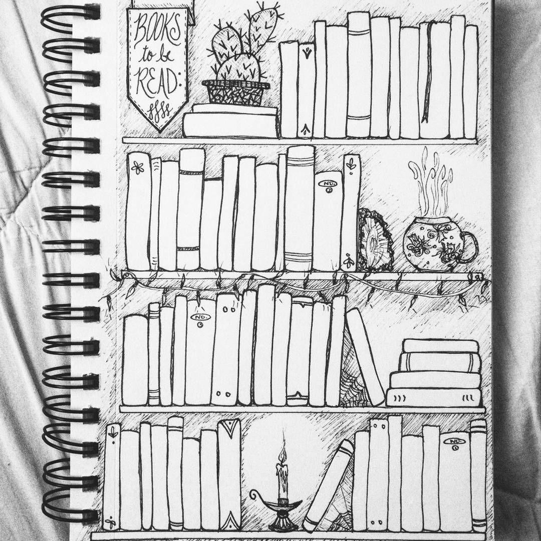 Tbr Toberead Books Bookshelf Sketch Inkdrawing Bujo Bulletjournal Bulletjournallove Bulletjournaljunkies Readytofillthisbadboyin