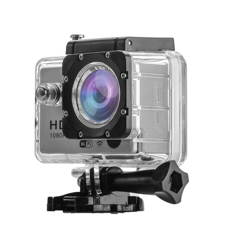 Q3 Full HD 1080P Sports Action Camera - 30M Waterproof, 2 Inch Screen, 170 Degree Lens, Remote Control, 1080P (Silver)