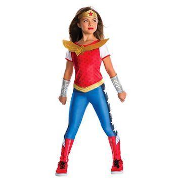dc super hero girls wonder woman girls costume - Heroes Halloween Costumes
