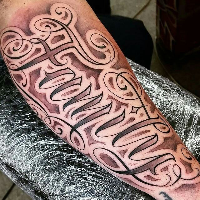 mens forearm tattoos writing ideas (6)