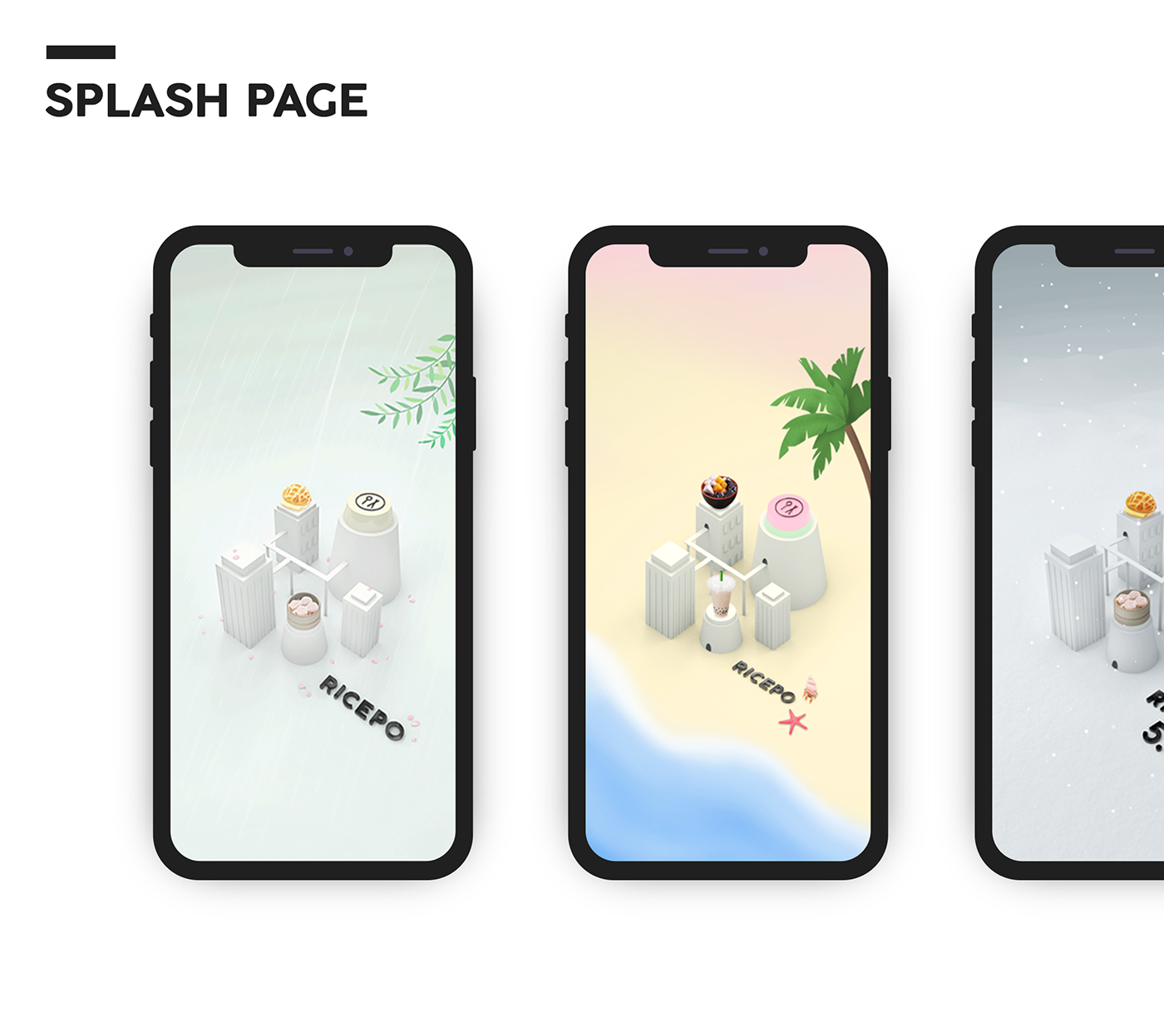 Ricepo Splash screens Splash screen, Splash page, Splash