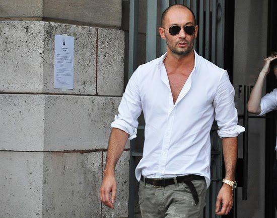 Milan Vukmirovic Fashion Designer Editor Photographer Mens Street Style Tommy Ton Street Style Bald Men Style