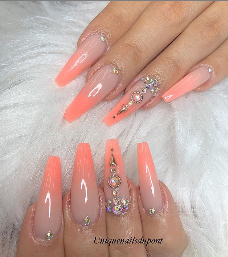 78 Hottest Classy Acrylic Coffin Nails Long Designs For Summer Nail Color Coffin Nails Long Summer Nails Colors Gorgeous Nails