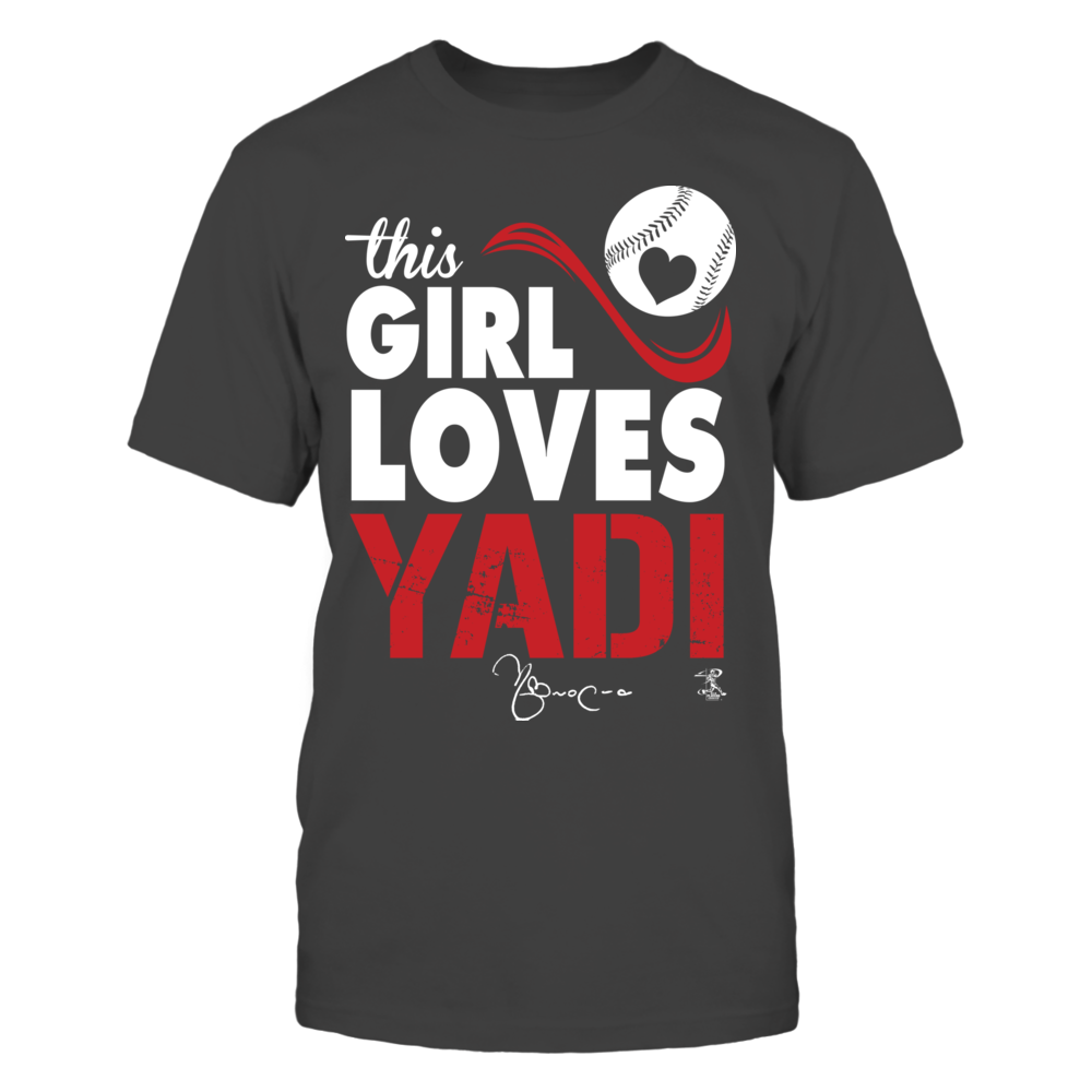 buy online 2ff7f 73f3c Yadier Molina - This Girl Loves | Fanprint official Shirts ...
