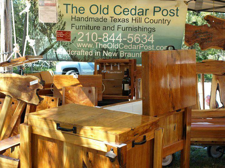 Beau Furniture Made Of Old Cedar Post.