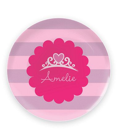 Love this Pretty Princess Personalized Plate on #zulily! #zulilyfinds