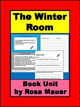 The Winter Room Novel Study Novel Studies Room Novel Junior