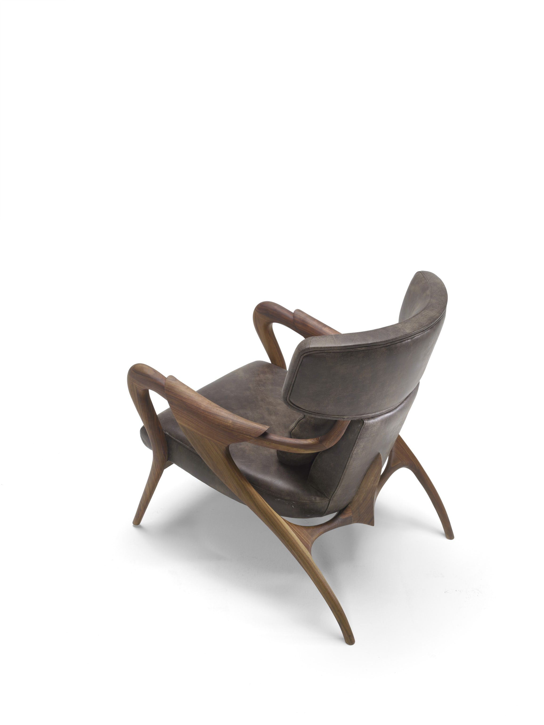 Isadora Chair By Agrippa Traditional Midcentury Modern Leather