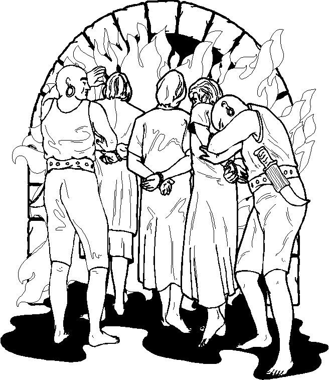 Fiery furnace Bible coloring page | VBS ideas | Pinterest ...
