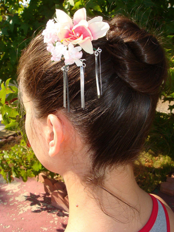 Bira bira kanzashi hair clip kanzashi handmade hair