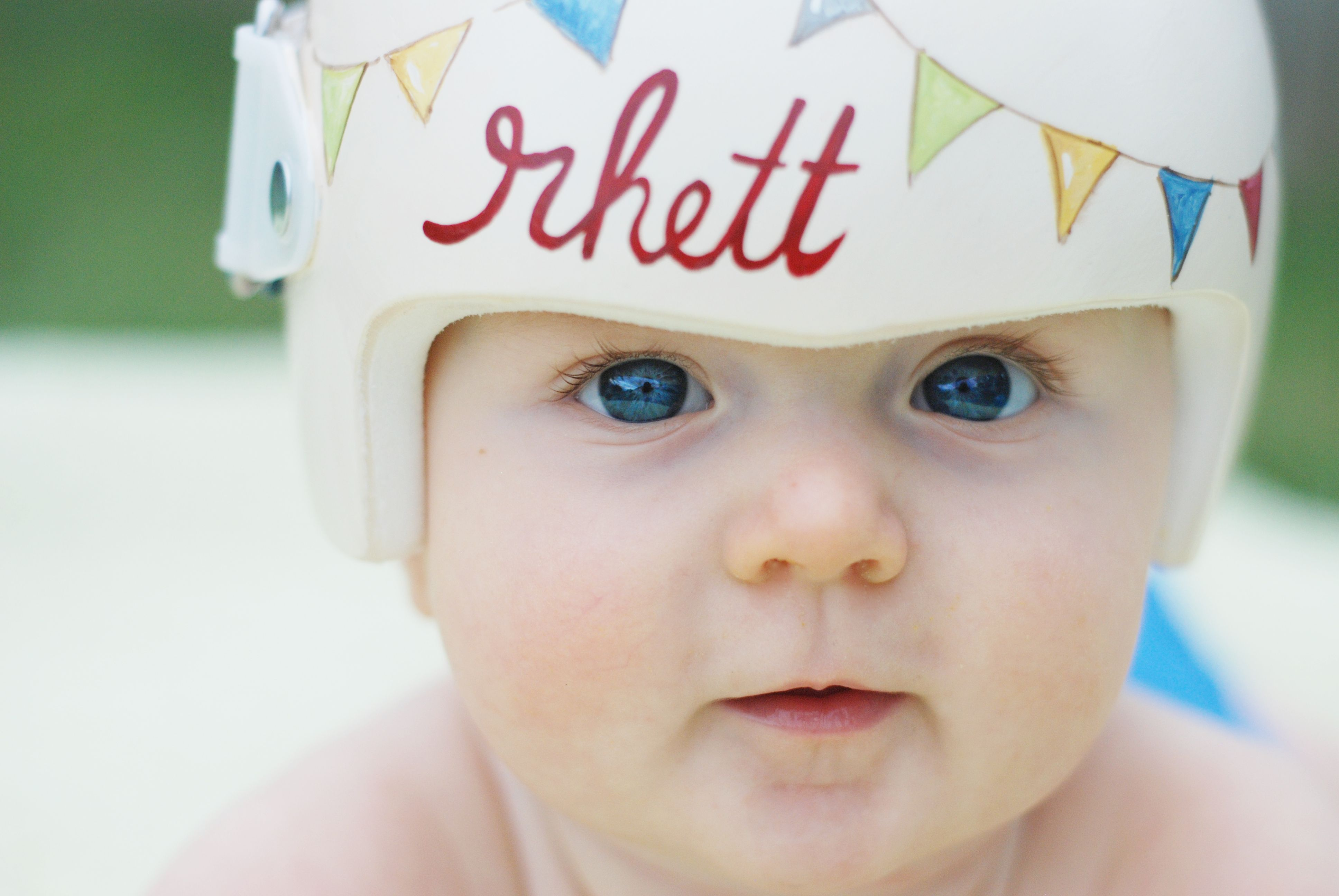 Cranial Band Helmet DOC Band Painting By Leigh Gibson Deanna - Baby helmet decalsbaby helmets lee pinterest creative baby helmet and babies