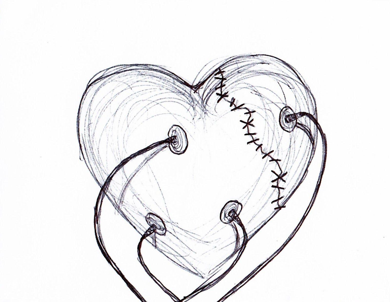 1600x1241 Broken Heart Anime Pencil Sketch Hd Pics Drawing
