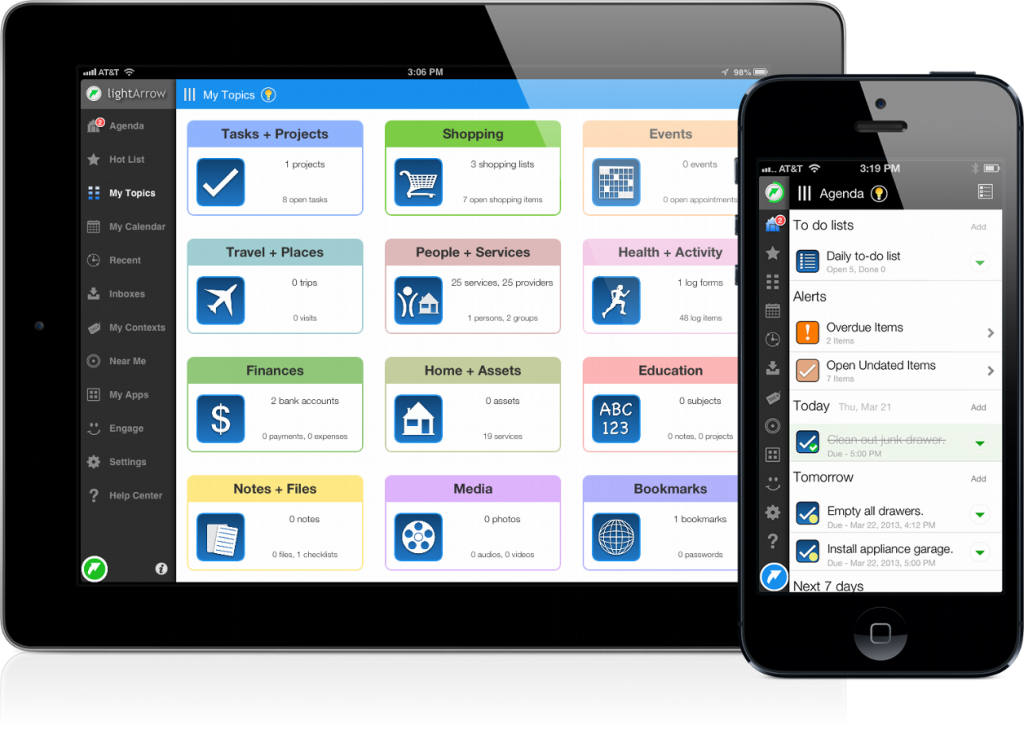 Productivity Apps LifeTopix Life Organization App for