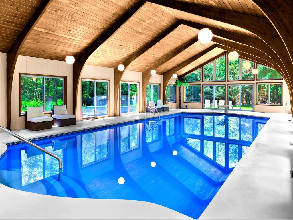 Unique Luxury Estate With Private Heated Indoor Pool Near Camelback Henryville Indoor Pool Luxury Estate Small Indoor Pool