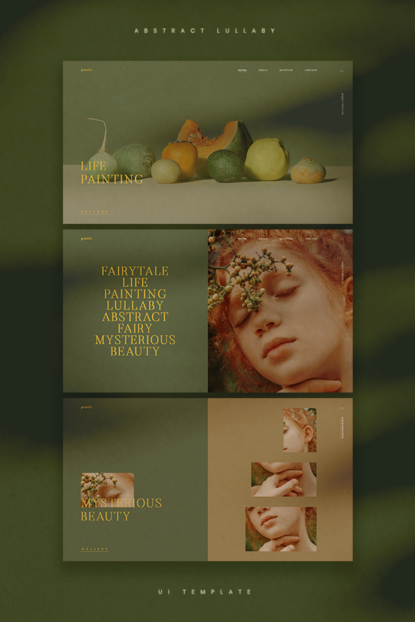 Lullaby UI Kit Photography Portfolio