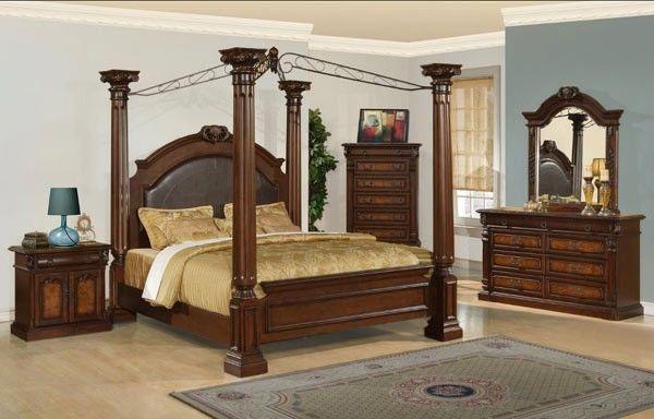 Myco Furniture - Juliet 3 Piece Eastern King Poster Bedroom Set