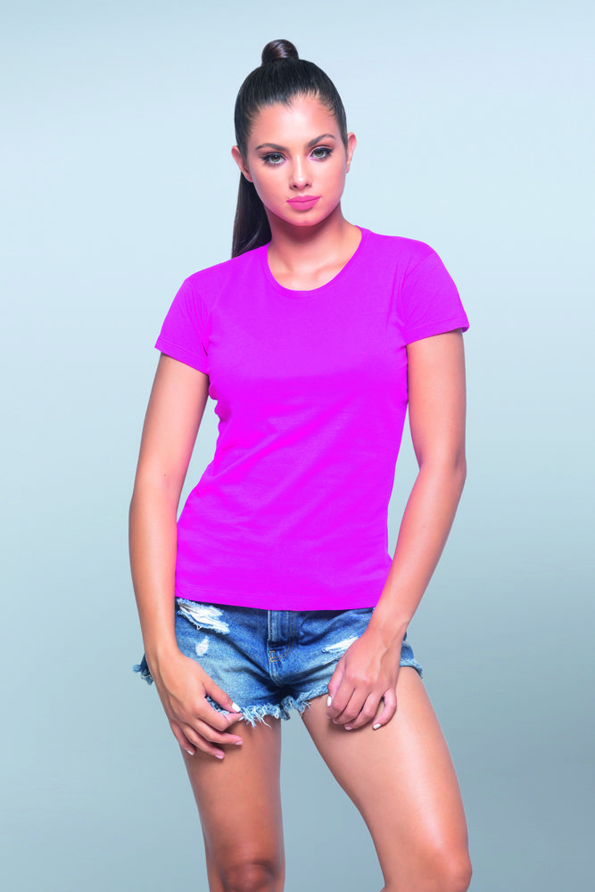 Damen Premium T-Shirt 190 Gemischtes Grau – JHK JK180 – Größe: 2XL