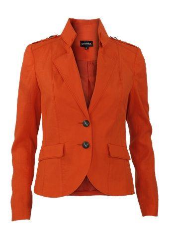 Promiss: Blazer kraag oranje