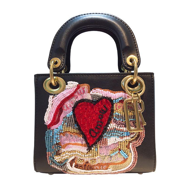 Photo of US $131.58 49% OFF Mini boncuklu nakış tote hakiki deri çanta kadın askılı çanta lüks tasarımcı kadın zincir omuz çantaları debriyaj çanta Omuz Çantaları    – AliExpress