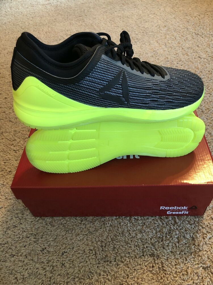 6104bed3669 Reebok Crossfit Nano 8 8.0 Flexweave Mens 10.0 Alloy Black Solar Yellow NIB   fashion  clothing  shoes  accessories  mensshoes  athleticshoes (ebay link)