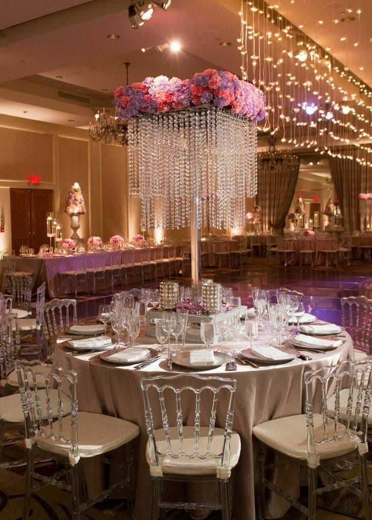 Chandelier wedding centerpiece/ wedding centerpiece for table/ Tall ...
