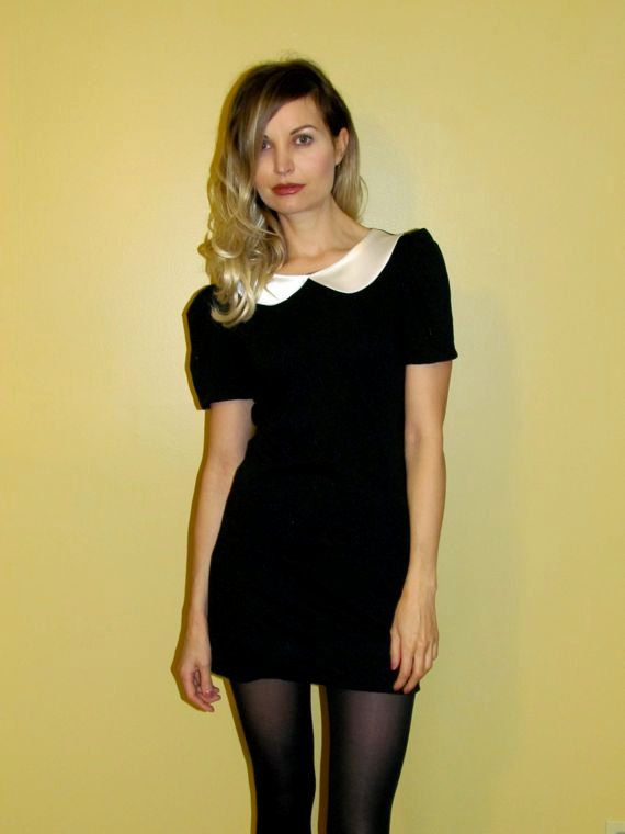 Black Mod Mini Dress with White Collar MADE to by viciousthreads, $72.00    asdfghjkl; neeeed so badly. ;_;