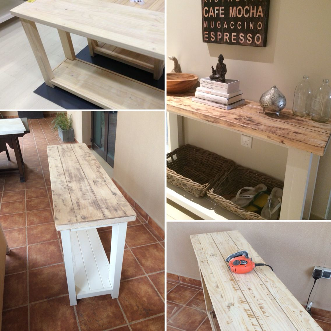 Ikea Rekarne Console Table Hack Top Sanded And Stained