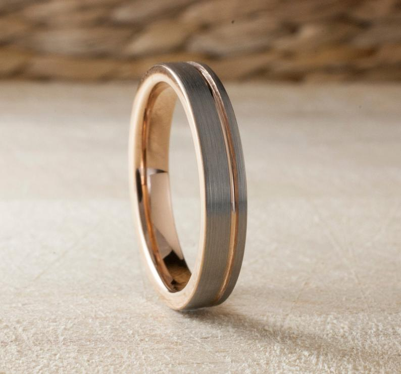 Wedding Favors Wedding Thin Mens Wedding Band Mens Wedding Bands Black Mens Wedding Band Tatt In 2020 Gold Tungsten Ring Rose Gold Tungsten Ring Rose Gold Tungsten