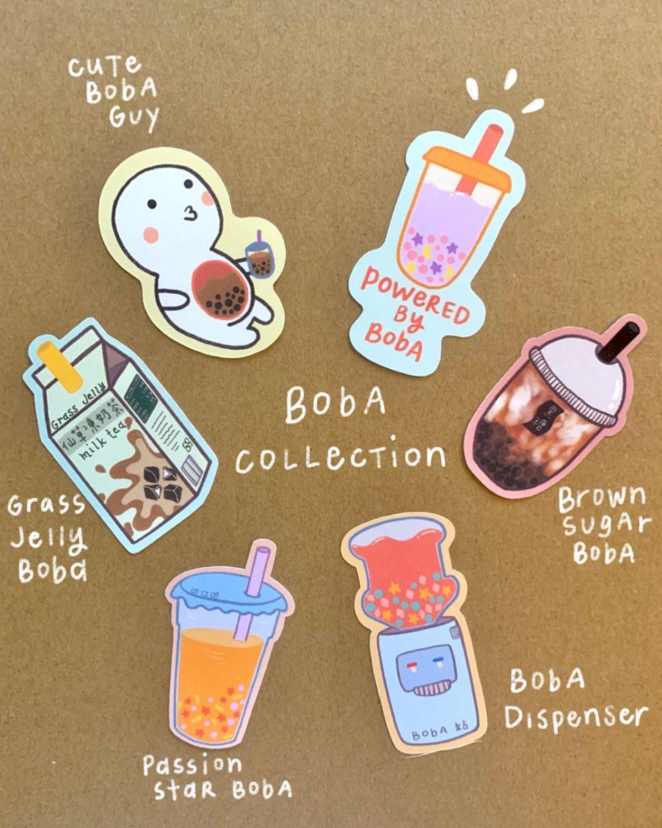 Boba Vinyl Sticker/ Bubble Tea Vinyl Sticker/ Boba Variety