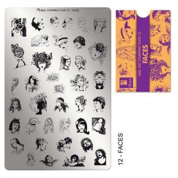 Moyra Stampingplatte Faces 12 - APA COLOR