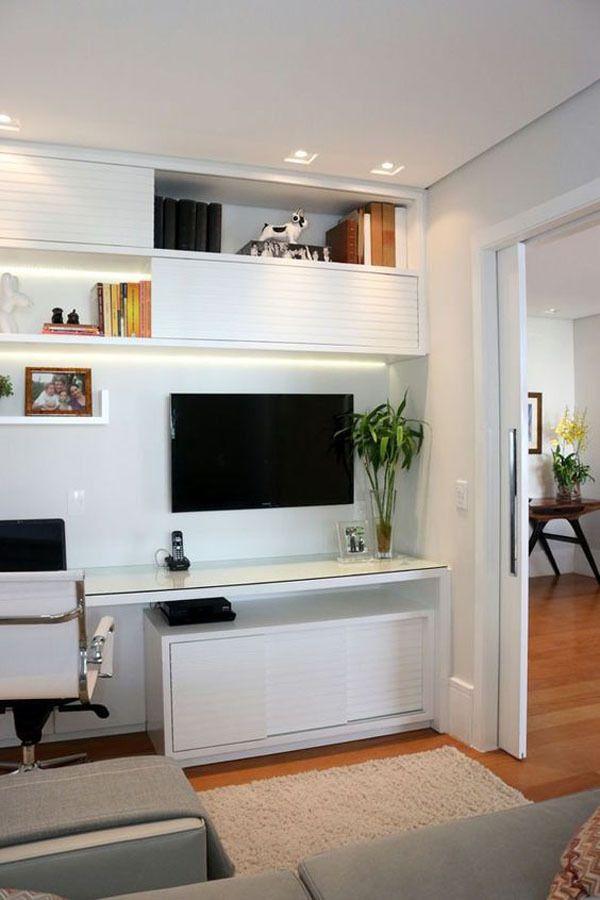 Computador na sala de estar 1 casa e decora o pinterest sala de estar computador e salas - Armarios para sala de estar ...