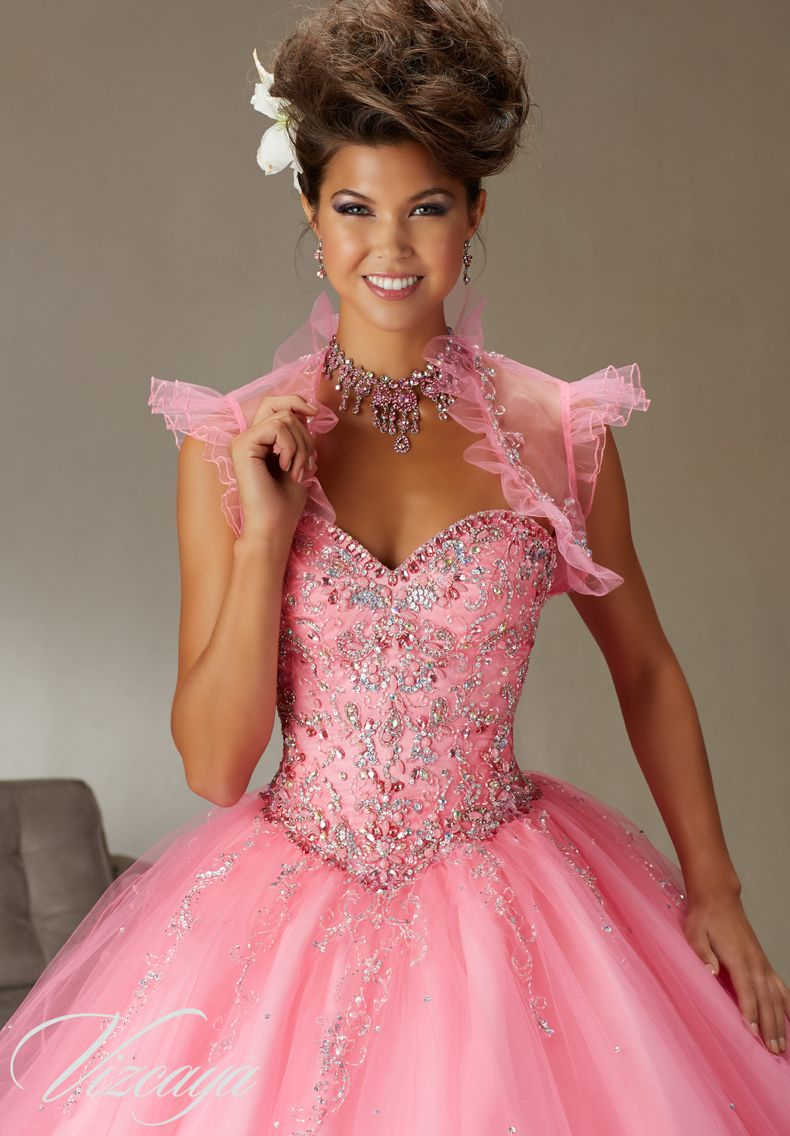 Quinceanera Dress Vizcaya Morilee 89062 Tulle Ballgown Beading A ...