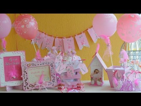 Baby Shower Nenas   Ideas Faciles Para Decorar   Stenciles   Souvenirs      YouTube