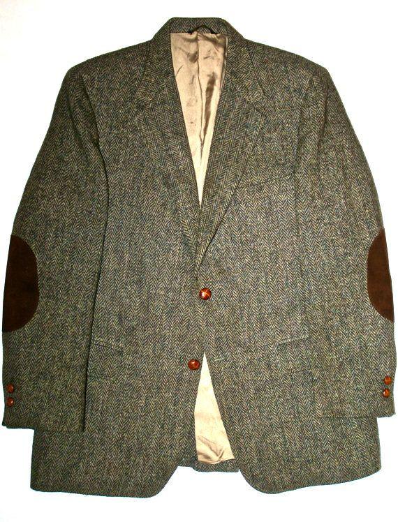 Vintage Harris Tweed Mens Scottish Wool Sport Coat Jacket