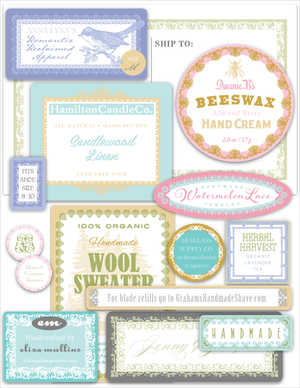 graphic relating to Small Printable Labels identify Cost-free PRINTABLE LABELS:: Substantial branding package of 14 option