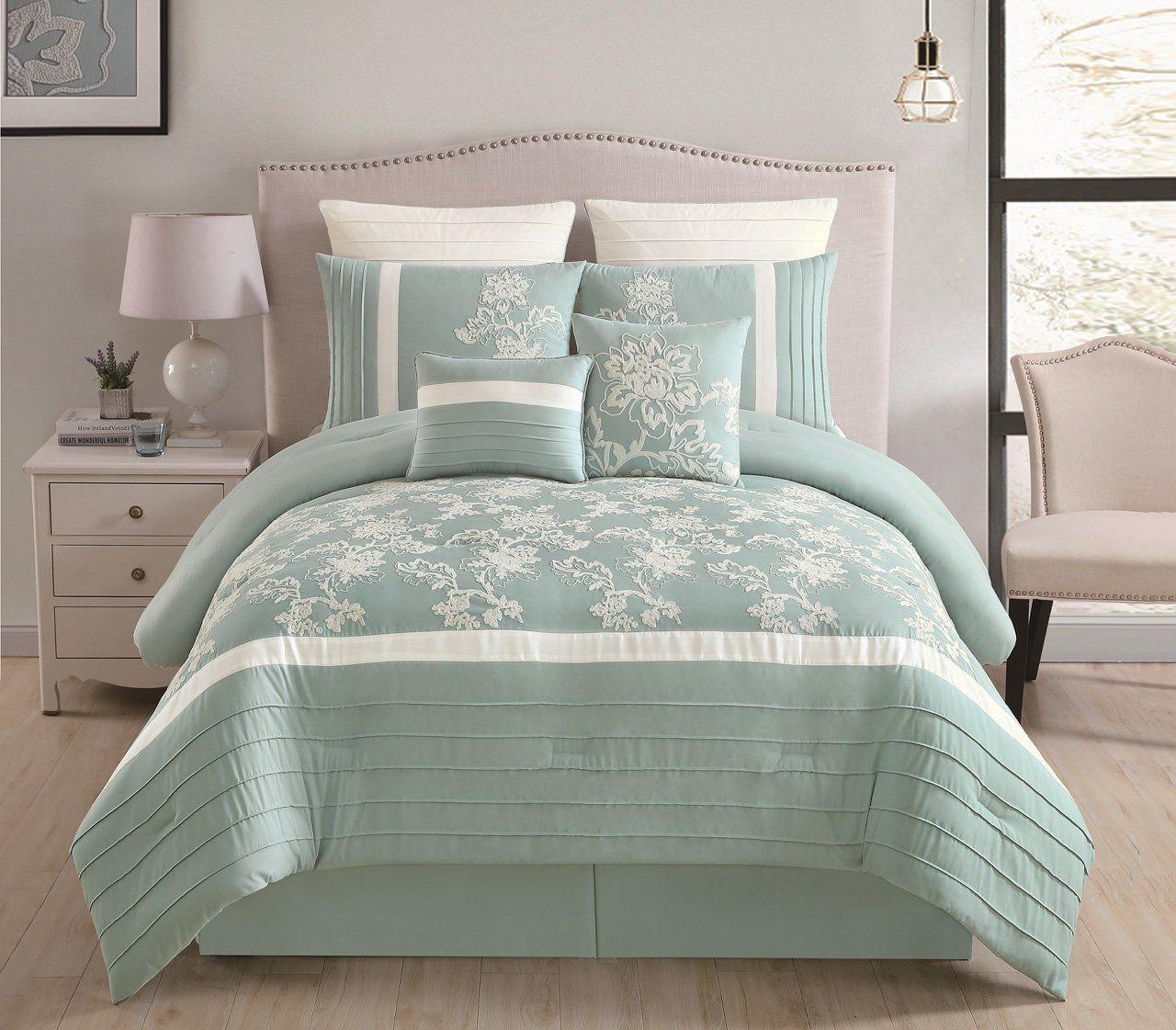12 Piece Maris Sage Bed In A Bag Set Comforter Sets Aqua