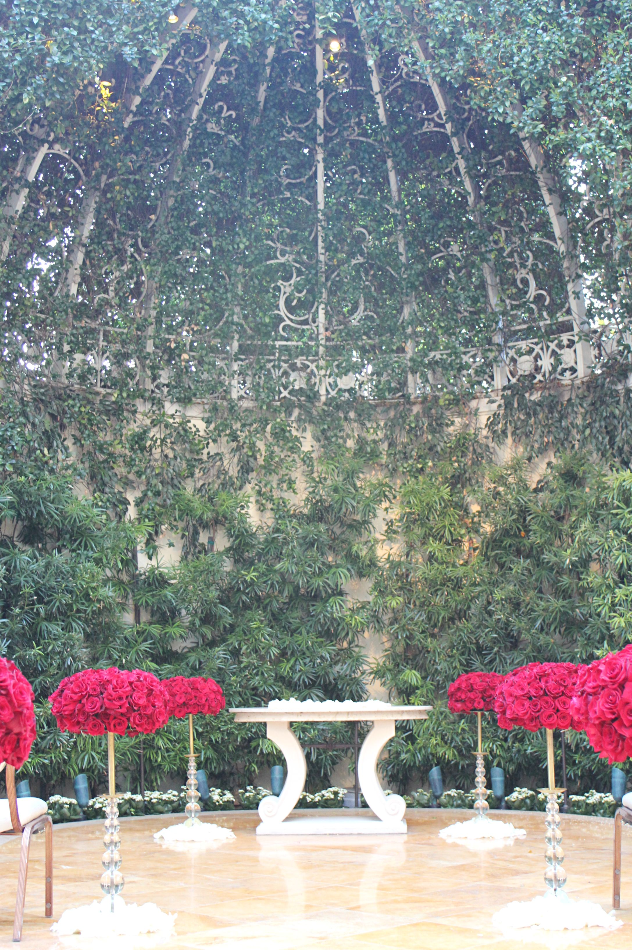 Primrose Courtyard In The Wedding Salons At The Wynn Is A