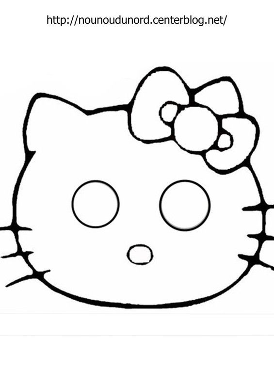 Masque Hello Kitty à Imprimer Birthday Party Fasching Maske