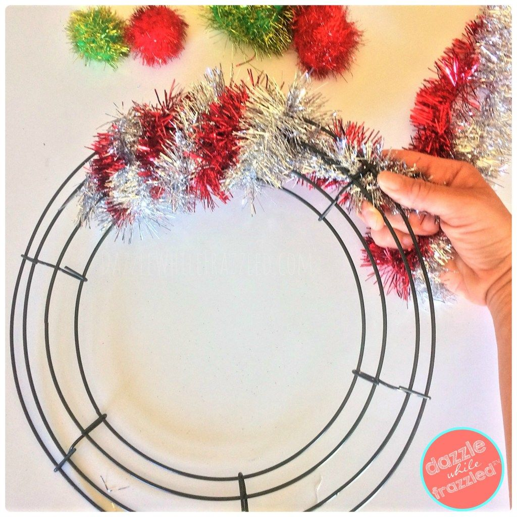 How to Make Retro 20Minute Tinsel Garland Wreath Tinsel