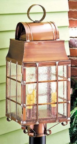 Outdoor Martha/'s Post Lantern Light in Antique Copper or Weathered Brass