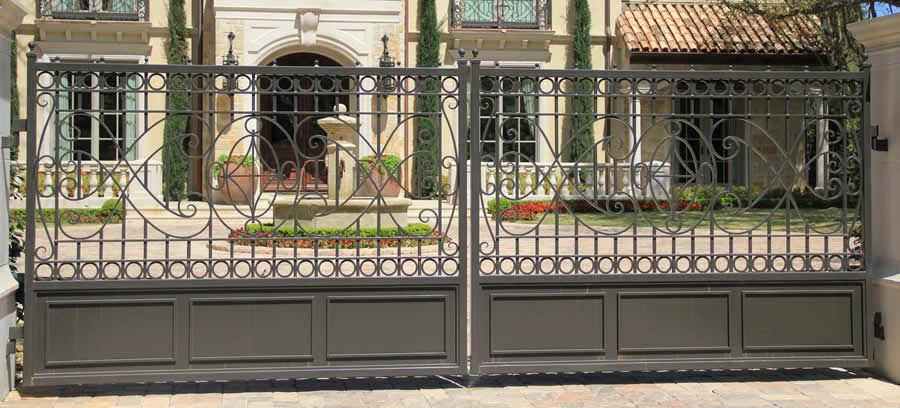 Electric Gates And Security Gate Of Dallas Fort Worth We Build Install Wrought Iron Metal Sliding Swinging For Driveways