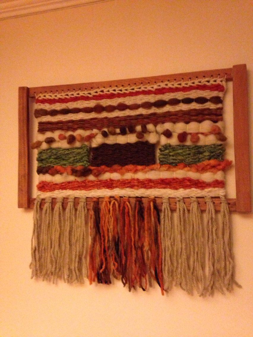 Telar decorativo Mis tejidos   Arte en lanas.   Pinterest   Telar ...